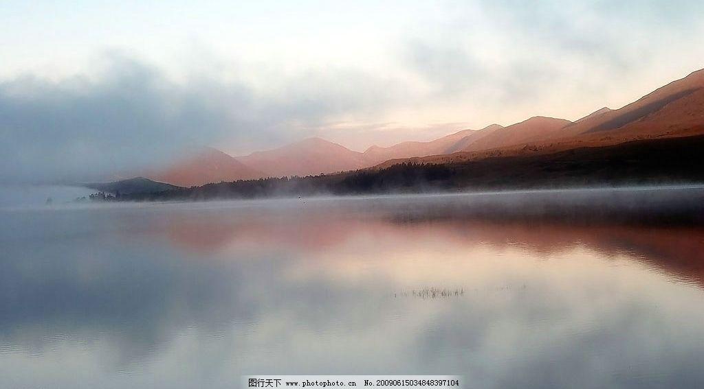 湖泊 美丽风景 蓝天 白云 云层 天空 高山 景色 山峰 池塘 倒影 自然