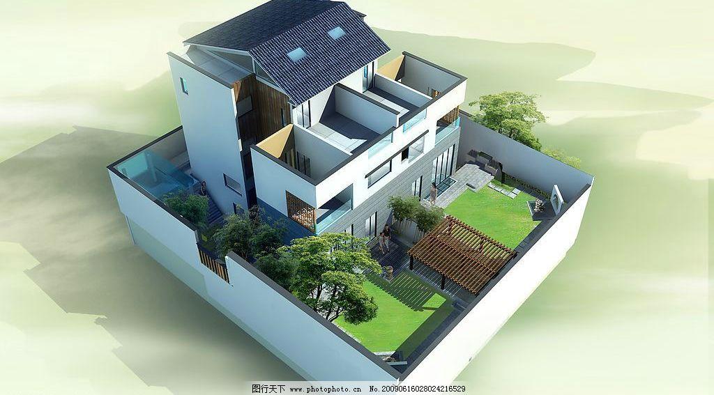 中式 别墅图片图片