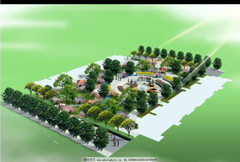 小区游园景观图片_景观设计_环境设计_图行天下图库