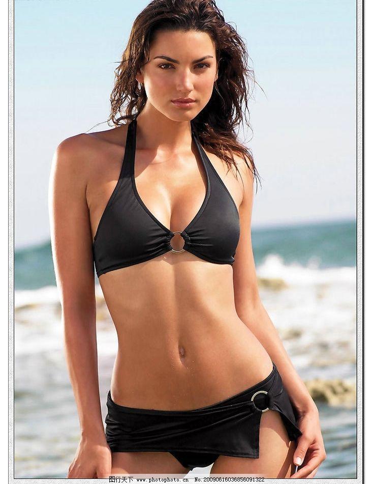 泳装 模特 外国美女 三点式 性感 女性 女人 内衣 人物图库 女性女人