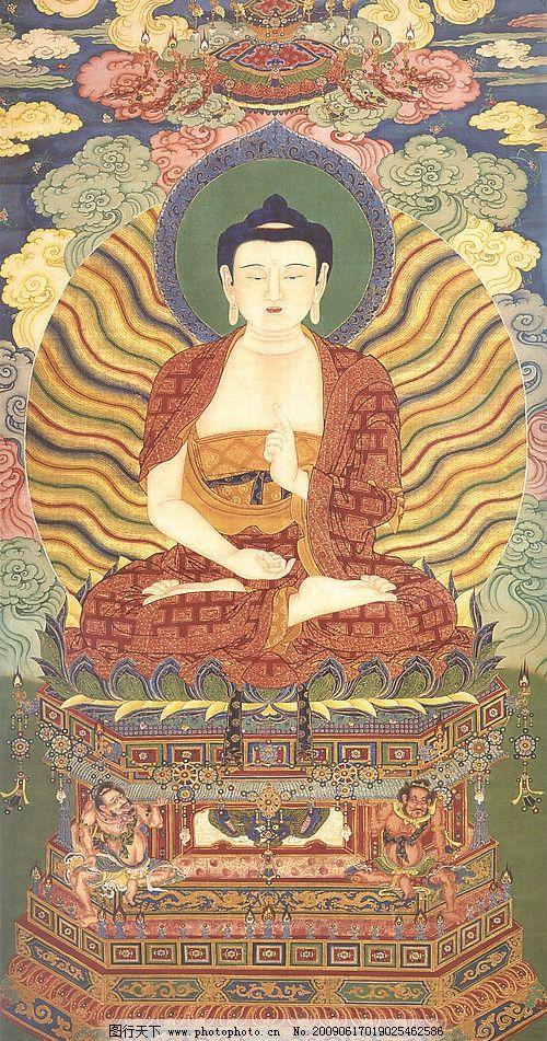 佛像 工笔画 中国古画 文化艺术 绘画书法 设计图库 101dpi jpg