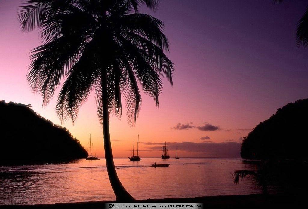 海南 三亚 风景 海滩 椰子树 旅游 休闲 自然景观 自然风景 摄影图库