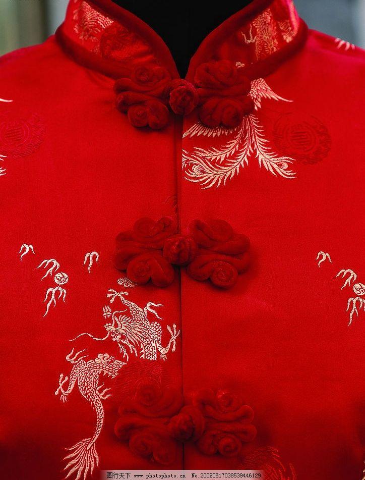 旗袍 领子 衣服 古代 传统 纽扣 花纹 文化艺术 传统文化 摄影图库