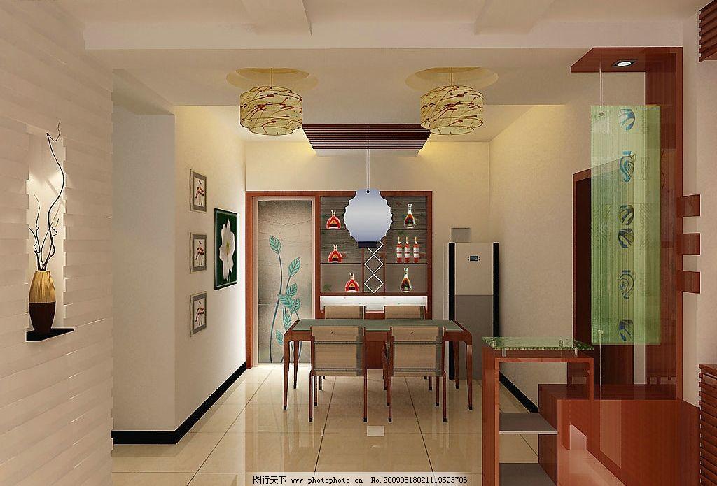 家装设计效果图      灯 家具 门 柱子 3d设计 3d作品 设计图库 72dpi