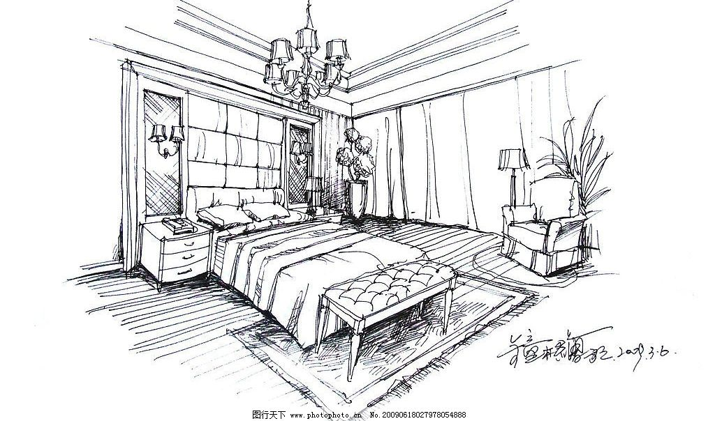 房间手绘图图片_室内设计_环境设计_图行天下图库