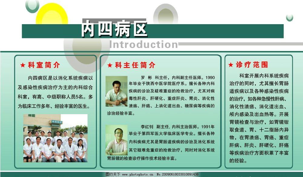 医院内四展板图片,内四病区 科室 照片 简介 服务项目
