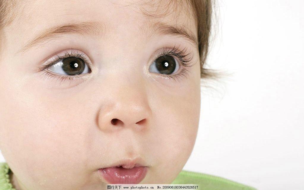 可爱宝宝4 大眼睛 吃惊 头部特写 儿童幼儿 摄影图库
