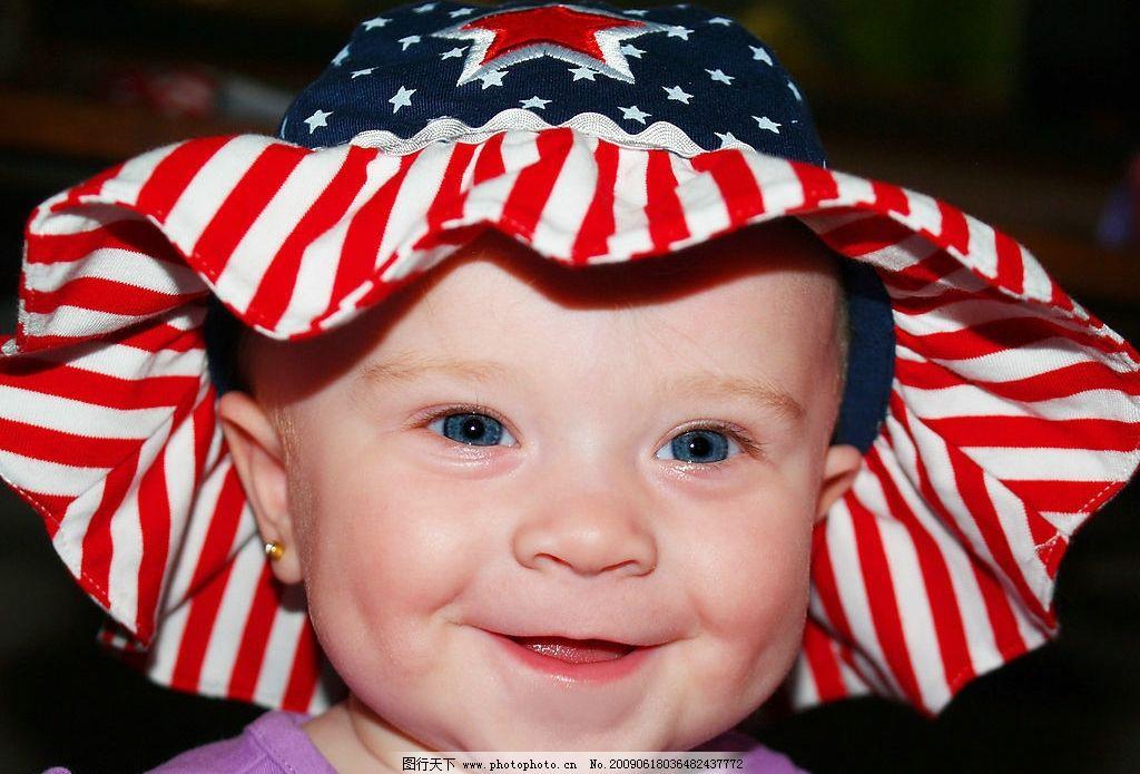 快乐小宝宝 宝宝 儿童 幼儿 婴儿 baby 脸部 可爱 帽子 人物图库 儿童