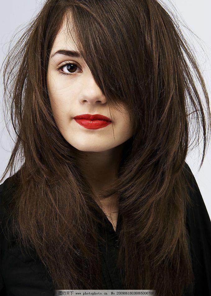 女性 时尚 发型 美发 美容 长发 脸部 美丽 美女 人物图库 女性女人