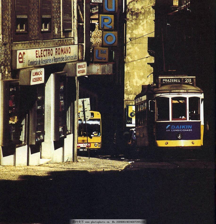 德国街道巴士风景
