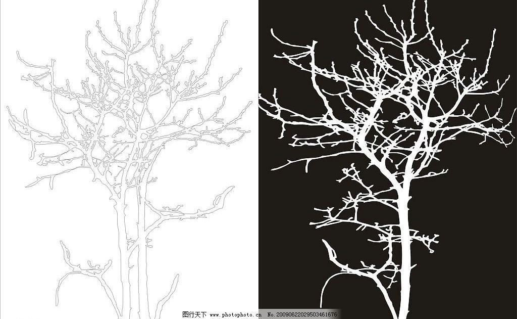 树的图片大全手绘素描