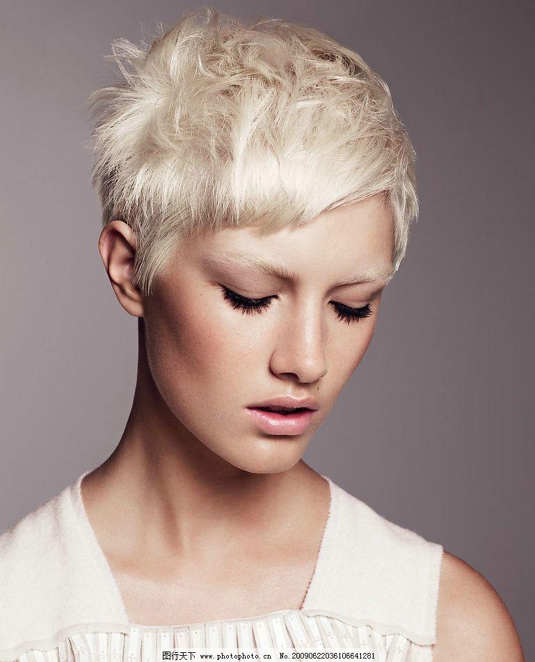 流行时尚发型模特图片图片