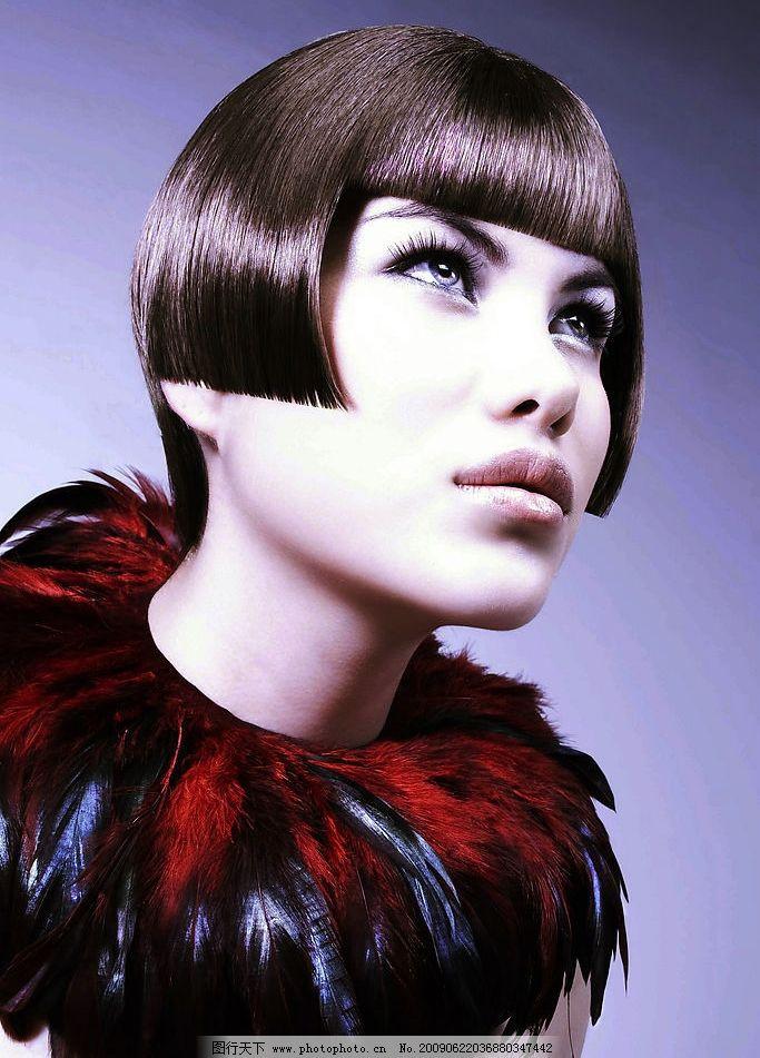 时尚发型 女性 模特 时尚 发型 美发 bob 脸部 短发 化妆 人物图库 女图片
