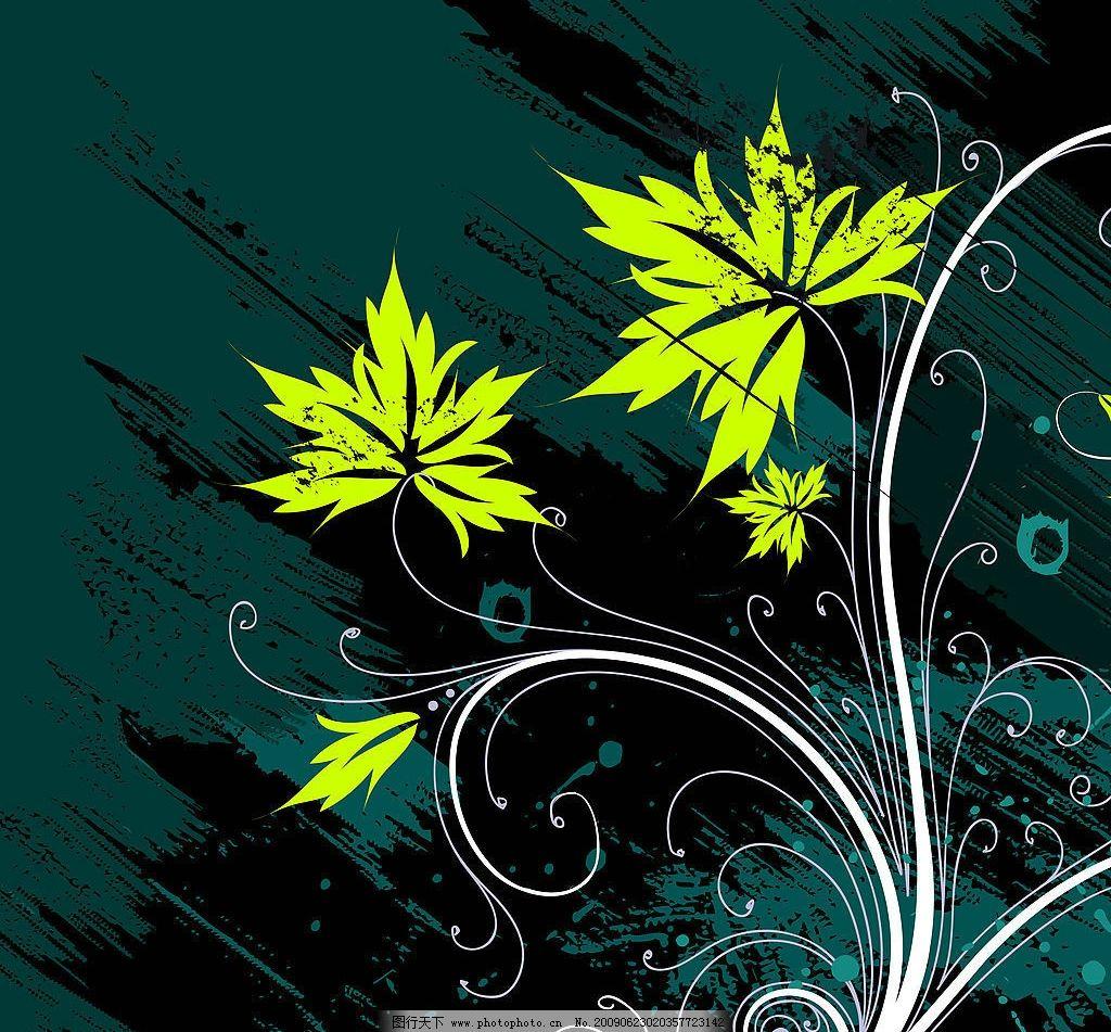 花边底纹 纯色经典 绿叶 藤蔓花边 炫彩美图 底纹边框 花边花纹
