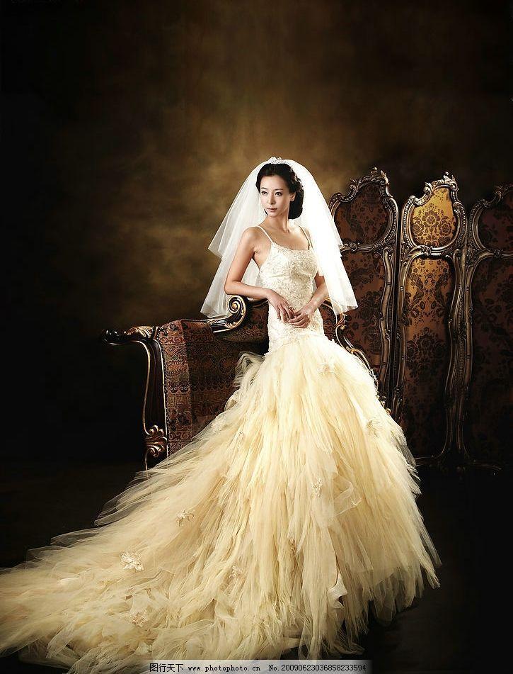 婚纱美女图片