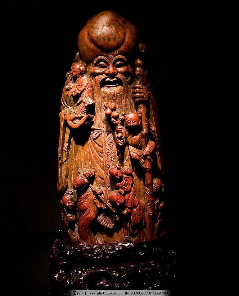 寿星图片,木刻 木雕 吉祥 传统 文化 中国 神话-图行