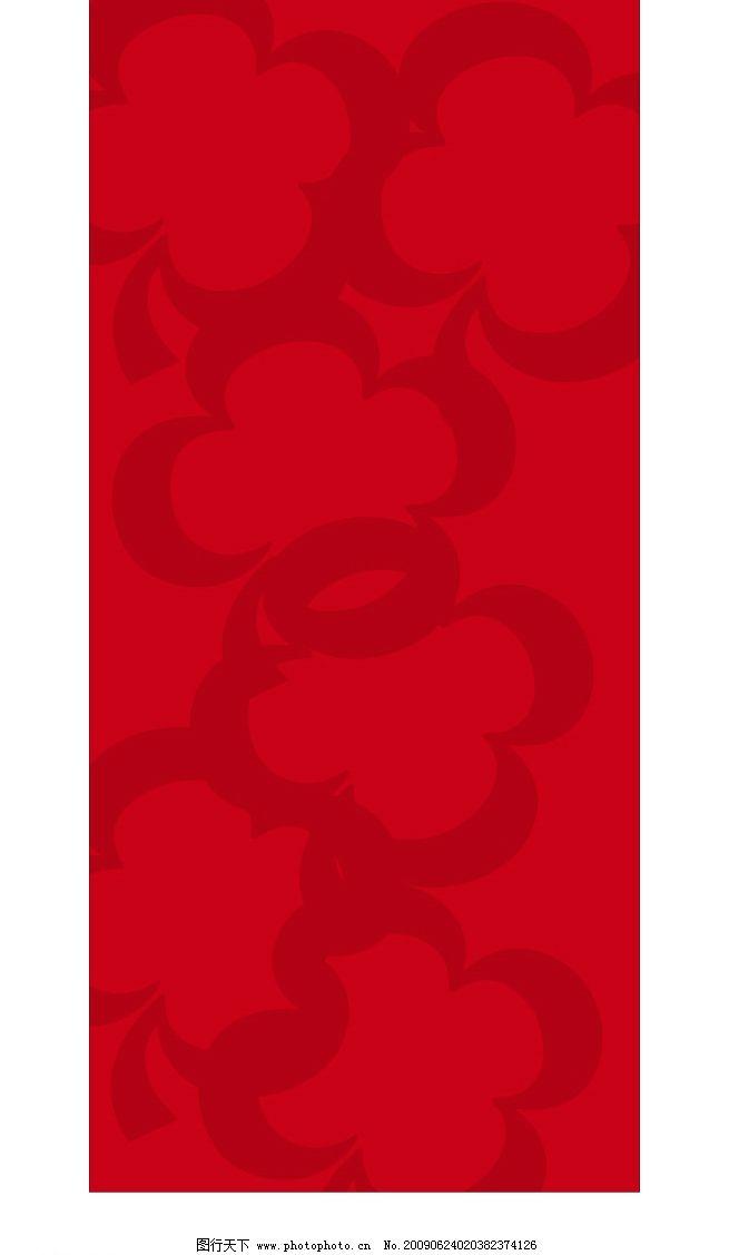 红色暗花图片