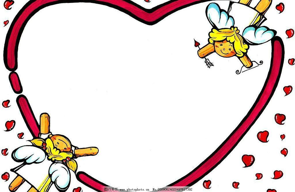 卡通边框13 心 爱情 天使