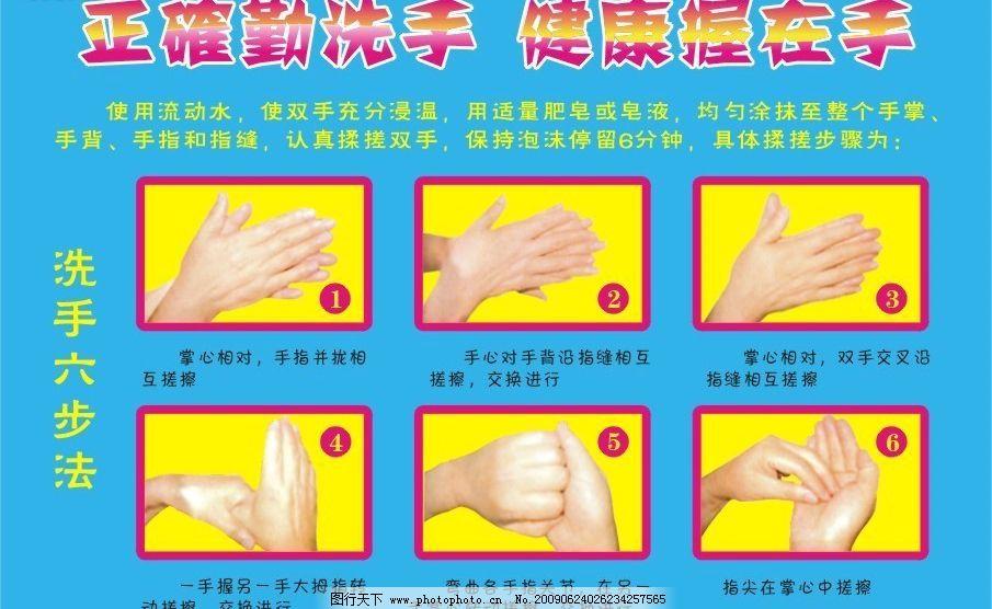 洗手六步法图片