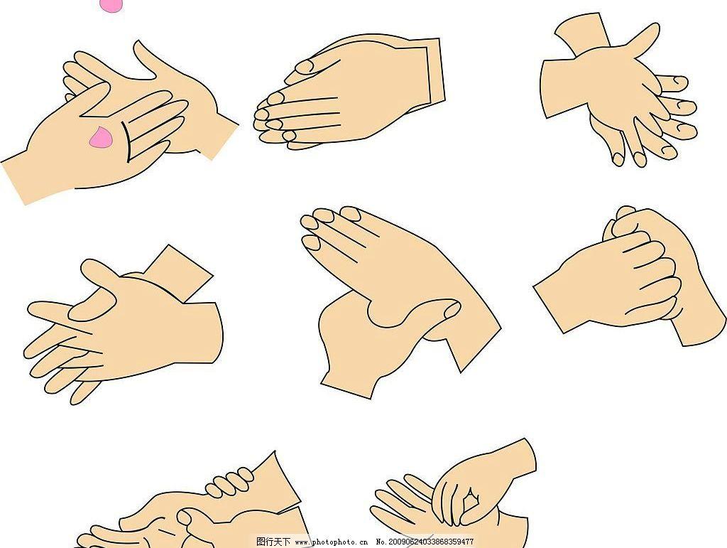 健康洗手七步法图片