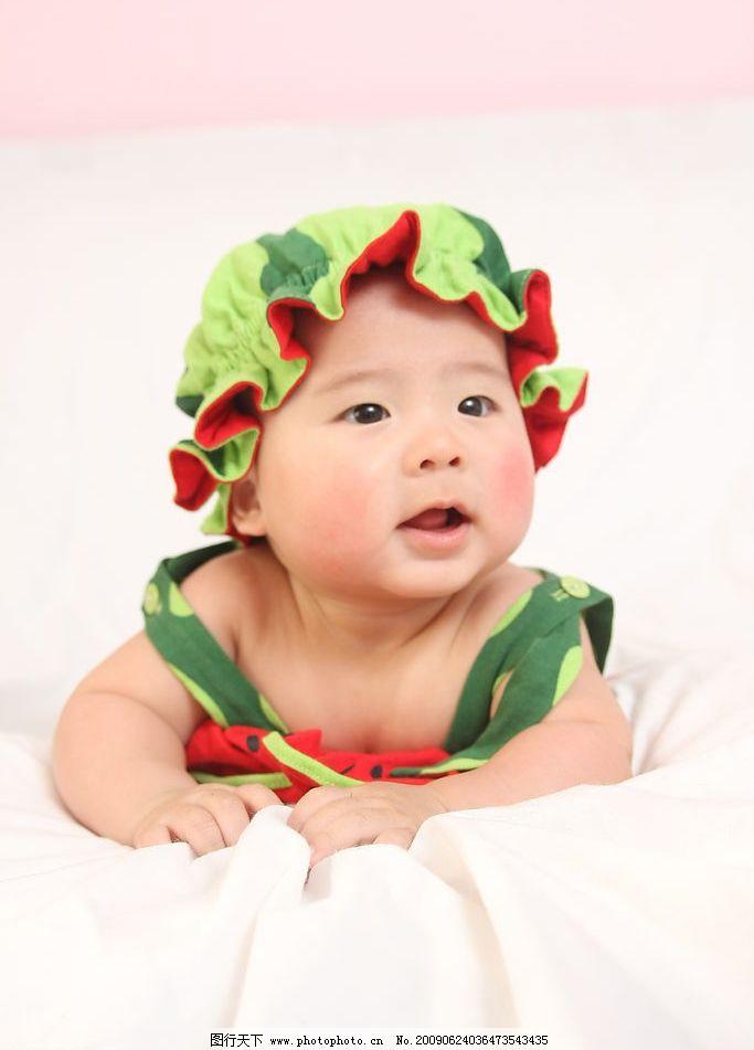 西瓜宝宝 儿童摄影写真 西瓜 宝宝 人物图库 儿童幼儿 摄影图库 72dpi
