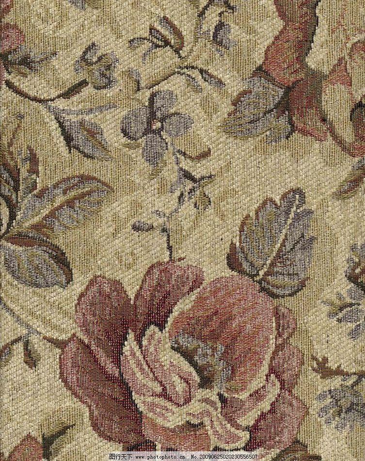 地毯底纹 牡丹 羊毛毯