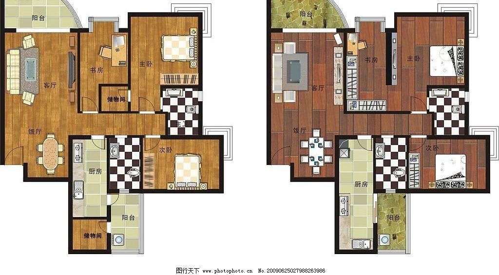 单体平面图 户型 沙发      床      平面图 建筑家居 室内设计 矢量