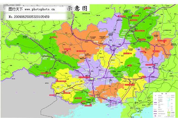 广西高速公路-矢量地图