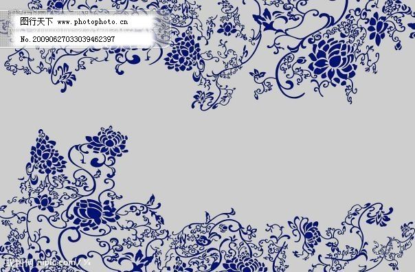 青花瓷底纹 psd源文件 psd素材|psd文件|psd源文件 底纹素材|边框素材