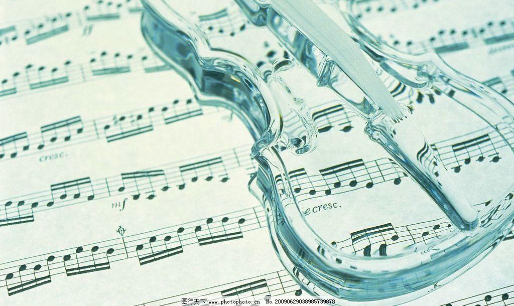 小提琴 五线谱 音符 音乐 摄影图库