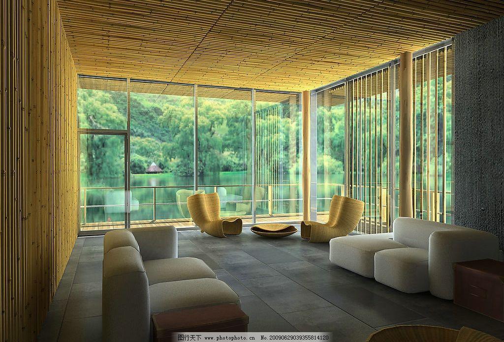 竹屋 室内设计 建筑 房屋 自然景观 沙发 建筑园林 室内摄影