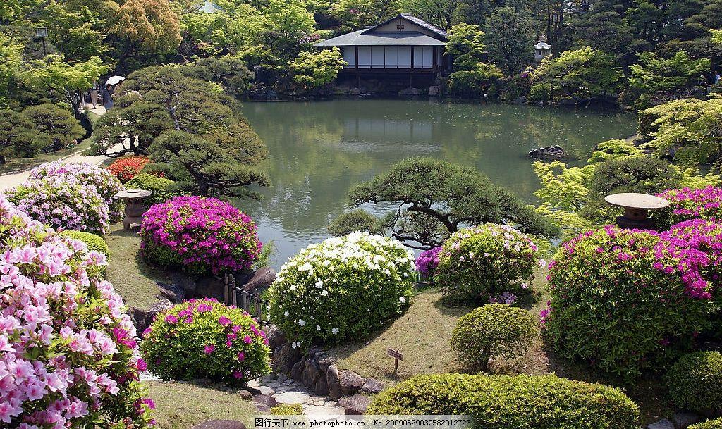 日本庭院风景图片