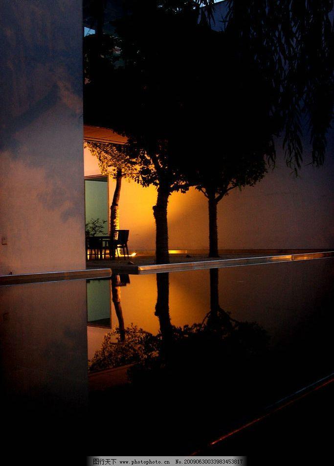 夜晚的萬科別墅圖片